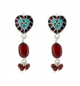 Enamel Heart with beads f